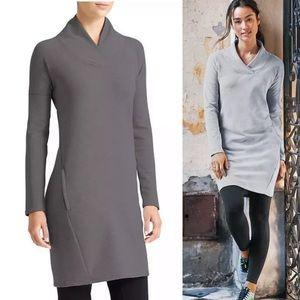 Athleta Soft Tech Sweatshirt Dress Size XL Gray